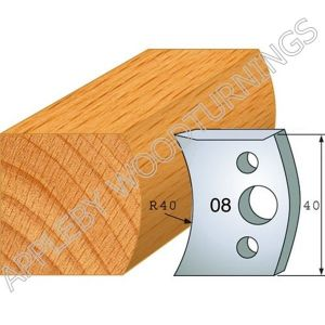 Profile No. 08  40mm Euro  Knives, Limitors and Sets