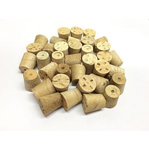 9mm Idigbo Tapered Wooden Plugs 100pcs