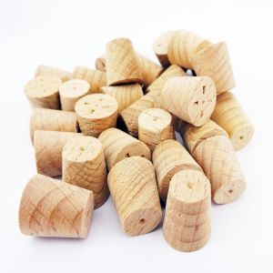 13mm Steamed Beech Tapered Wooden Plugs 100pcs