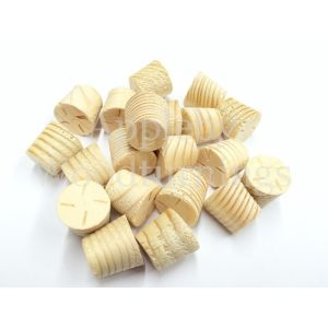 "1/2"" Joinery Grade Redwood Tapered Wooden Plugs 100pcs"