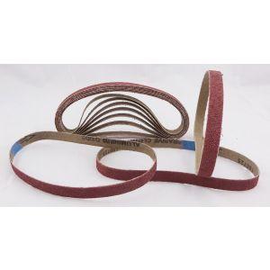 40 Pack Sanding Belts 13 x 457mm - 10 of each 40+60+80+120 grit