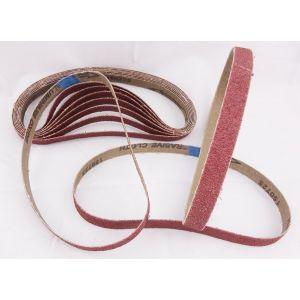 10 Pack Sanding Belts 13 x 457mm Various Grit Sizes
