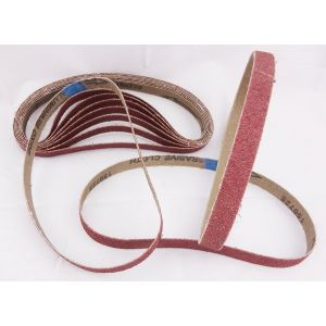 80 Pack Sanding Belts 13 x 457mm Various Grit Sizes