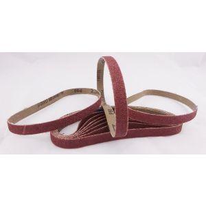 20 Pack Sanding Belts 13 x 457mm - 10 of each 80+120 Grit