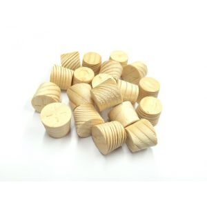 12mm Spruce Tapered Wooden Plugs 100pcs