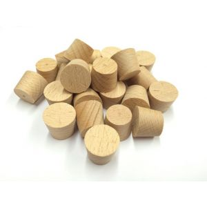 25mm Steamed Beech Tapered Wooden Plugs 100pcs