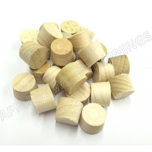 52mm Tulipwood Tapered Wooden Plugs 100pcs