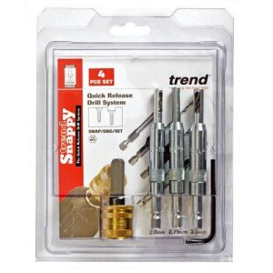 Trend Snappy Drill Bit Guide 4pc SNAP/DBG/SET
