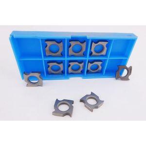 18 x 18 x 3.7mm Square Reversible Hook Tip Grooving Knives 1 Box ( 10Pcs )