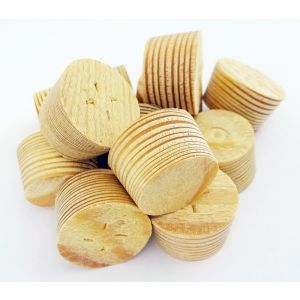 17mm Larch Tapered Wooden Plugs 100pcs supplied by Appleby Woodturnings