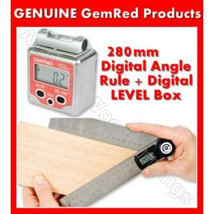 GEMRED 280mm Digital Rule + Level Box Angle Finders DOUBLE PACK