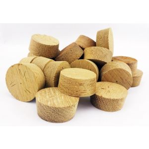 34mm Iroko Tapered Wooden Plugs 100pcs