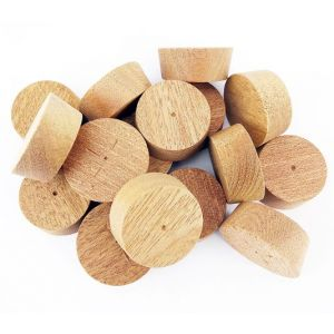 64mm Sapele Tapered Wooden Plugs 100pcs