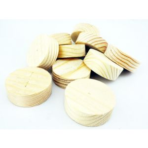 35mm x 12mm Straight Sided Softwood Wooden Plugs 100pcs