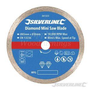 85mm Silverline Diamond Mini Circular Saw Blade For Titan/Worx Saws 361323