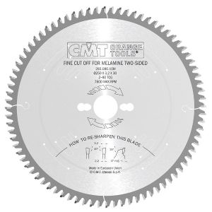 220mm Z=64 ATB Id=30 Fine Cut-Off Cross Cut Saw Blade CMT