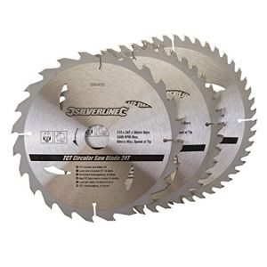 3 Pack 210mm TCT Circular Saw Blades Id=30mm to suit EINHELL BT SM2131