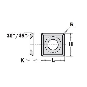 CMT 12mm x 12mm x 1.5mm Reversible Tip 790.120.20 - 1 Piece