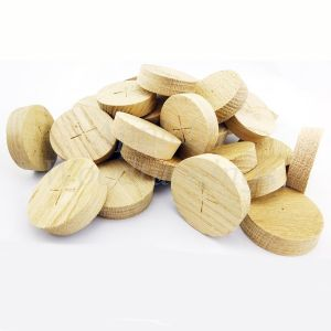 42mm American White Oak Tapered Wooden Plugs 100pcs