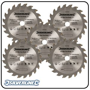 85mm TCT Circular Saw Blade, 10mm Bore, Z=20 to suit Silverline, Titan & Worx mini saws - 4 pack