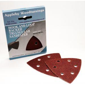 80 pack of 90mm Triangle Hook & Loop Sanding Pads Various Grit Sizes