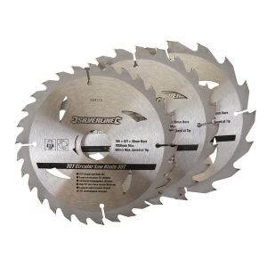 3 Pack 165mm TCT Circular Saw Blades to suit MAKITA BSS610RFE,BSS611Z,DHS630RFE