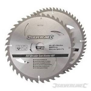 2 pack 250mm Silverline TCT Circular Saw Blades 991704