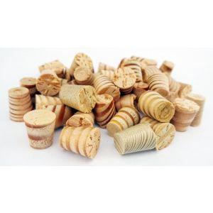 9mm Columbian Pine Tapered Wooden Plugs 100pcs