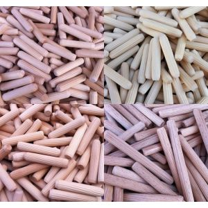 Birchwood Fluted Dowel Pins Various Diameters And Pack Sizes