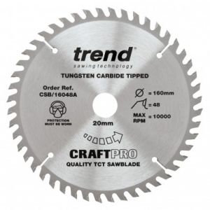160mm Z=48 Id=20 TREND CRAFT Hand Held / Portable Saw Blade To Fit Festool ATF55