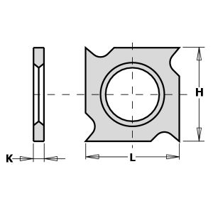 18mm Square Reversible Hook Tip Grooving Knives to suit CMT 790.182.00