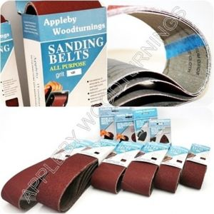 5 Pack Sanding Belts 75 x 533mm Various Grit Sizes