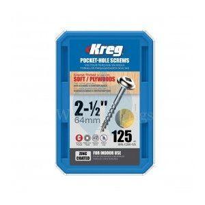 125 SCREWS 2 1/2 Inch KREG Pocket Hole Washer Heads 63mm