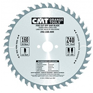 160mm Z=40 Id=20 CMT Hand Held / Portable Saw Blade To Fit Festool AP55