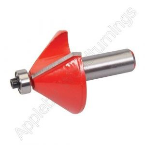 """47 x 25.4mm S=1/2"""" Silverline TCT Chamfer Router Cutter"""