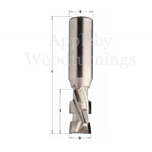 16 x 27mm PCD Diamond Router Z=2+2 S=16 With 2.5mm Tip Depth