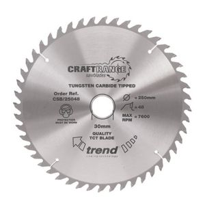 Trend 162mm dia 20mm Bore ATB Z=48 TCT Table / Rip Saw Blade CSB/16248