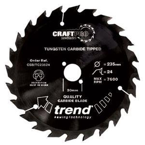 Trend 190mm dia 30mm Bore ATB Z=24 TCT Non-stick PTFE Coat Saw Blade CSB/TC19024T