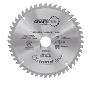 Trend Craft Pro 210mm dia 30mm bore 48 tooth crosscut saw blade