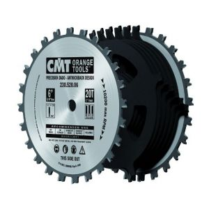 150mm Z=20 with a 15.87mm Bore Dado / Trenching Saw Blade CMT