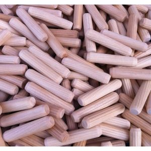 8 x 30mm Beech Fluted Dowel Pins - 1,000 pcs