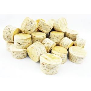 OSB Tapered Plugs to Fit Flush in a 25mm dia Hole, 18mm Thick Board - 100pcs