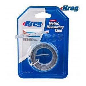 Kreg 3.5 Meter Self Adhesive Measuring Tape Metric Left to Right Reading KMS7729