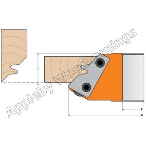 1 pair CMT Lockmiter carbide profiled knives 695.011.01