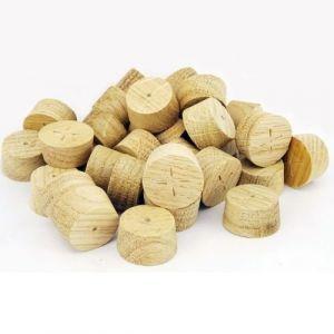 25mm English Oak Tapered Wooden Plugs 100pcs