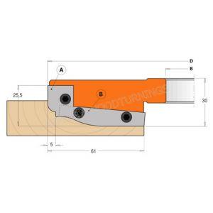 CMT Panel Raiser Tips 50 x 20 x 1.5mm A2 per pair 695.013.A2