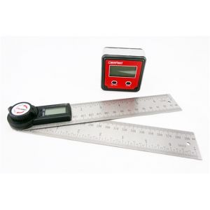 Plastic Bevel Box & 200mm Digital Angle Finder Rule GEMRED BUNDLE