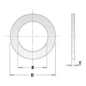Saw Blade Bore Reducing Bush 2.3mm Thick 25.4mm – 22.2mm CMT 299.219.00
