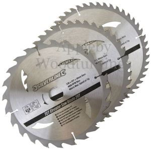 3 pack 230mm Silverline TCT Circular Saw Blades 892547