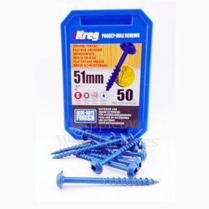 50 SCREWS 2 Inch KREG Pocket Hole Washer Heads SML-C2B 50mm